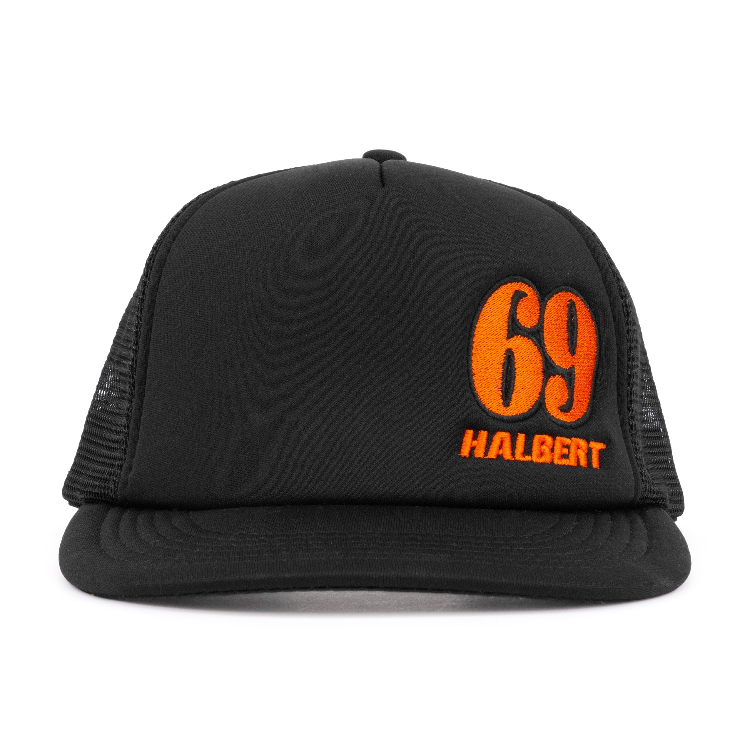Halbert: 2018 Mesh - Hat  Black Orange-Regular