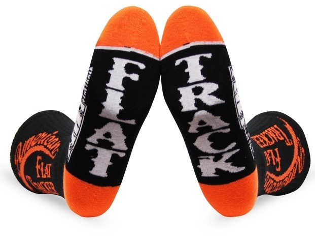 AMERICAN FLAT TRACKER CREW SOCKS-ORANGE/BLACK - !! SALE !! 30% OFF