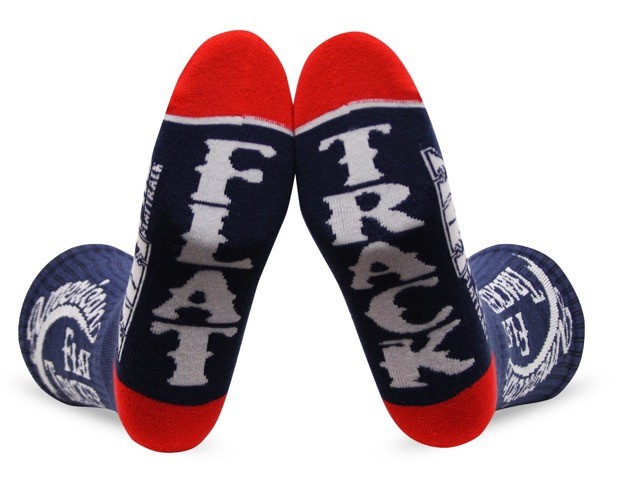 AMERICAN FLAT TRACKER CREW SOCKS-BLUE/WHITE - !! SALE !! 30% OFF
