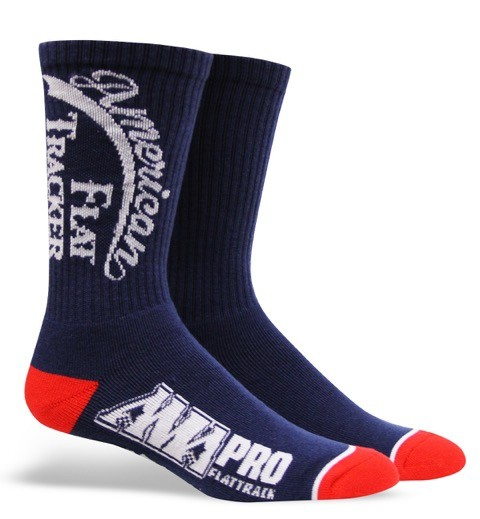 AMERICAN FLAT TRACKER CREW SOCKS-BLUE/WHITE - !! SALE !!