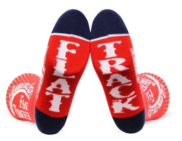 AMERICAN FLAT TRACKER CREW SOCKS-RED/WHITE - !! SALE !! 30% OFF